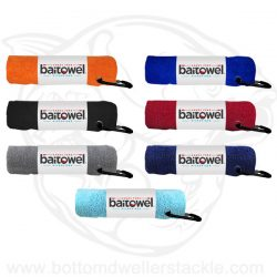 Baitowel Microfiber Hand Towel with Carabiner Clip