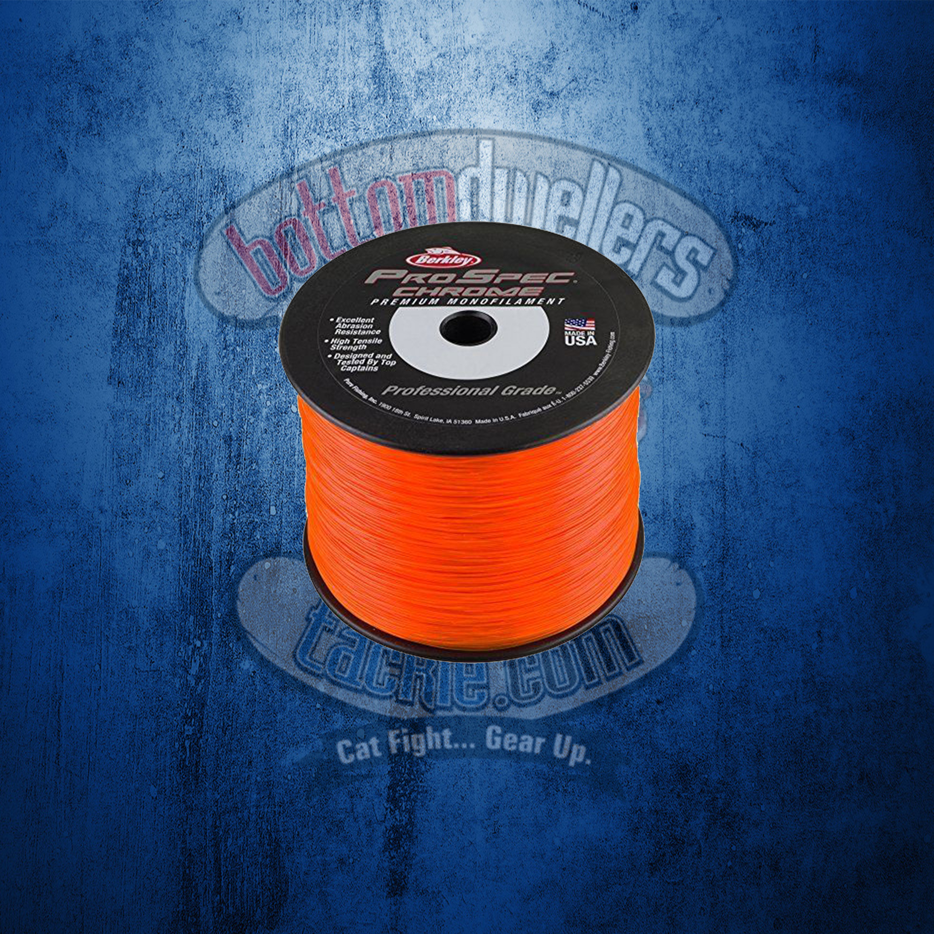 Berkley PSC112-OBL ProSpec Chrome Mono Line 12Lb 4700yd Ocean Blue 1Lb Spool