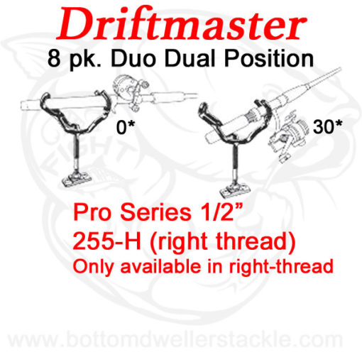 Driftmaster Pro Series Duo Rod Holders 255-H - 8 pack deal