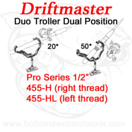 Driftmaster Pro Series Duo Troller Rod Holders 455-H and 455-HL