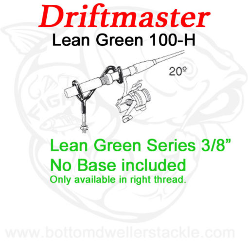 Driftmaster Lean-Green Series 100-h Rod Holder w flat rail base.psd