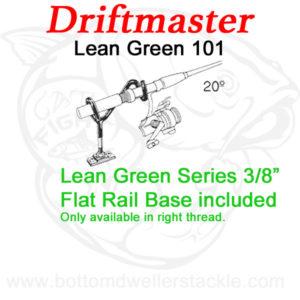 Driftmaster Lean-Green Series 101 Rod Holder w/ flat rail base