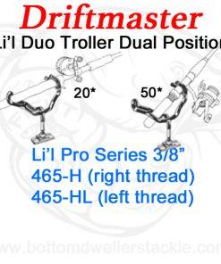 Driftmaster Li'l Pro Series Duo Troller Rod Holders 465-H and 465-HL
