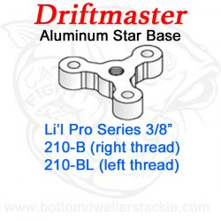 Driftmaster Li'l Pro Series Rod Holder Bases 210-B or 210-BL Star