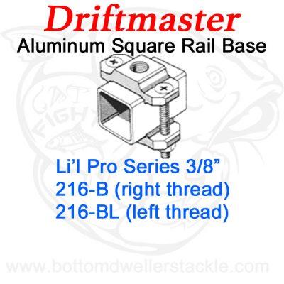 Driftmaster Li'l Pro Series Rod Holder Bases 216-B or 216-BL Square Rail Clamp