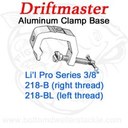 Driftmaster Li'l Pro Series Rod Holder Bases 218-B or 218-BL Universal Clamp