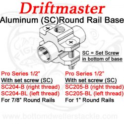 Driftmaster-Pro-204-B,-204-BL,-205-B,-and-205-BL-Round-Rail-Clamp-Base-with-set-screw