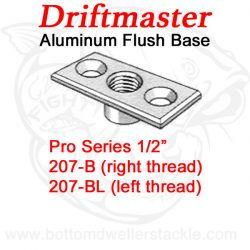 Driftmaster Pro Series Rod Holder Bases 207-B and 207-BL Flush Mount