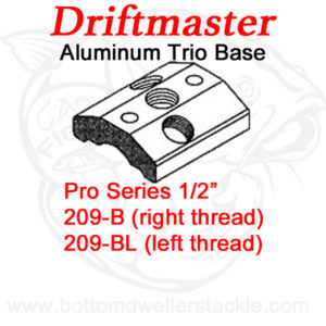 Driftmaster Pro Series Rod Holder Bases 209-B and 209-BL Trio Mount