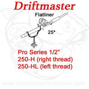 Driftmaster Pro Series Flatliner Rod Holders 250-H and 250-HL