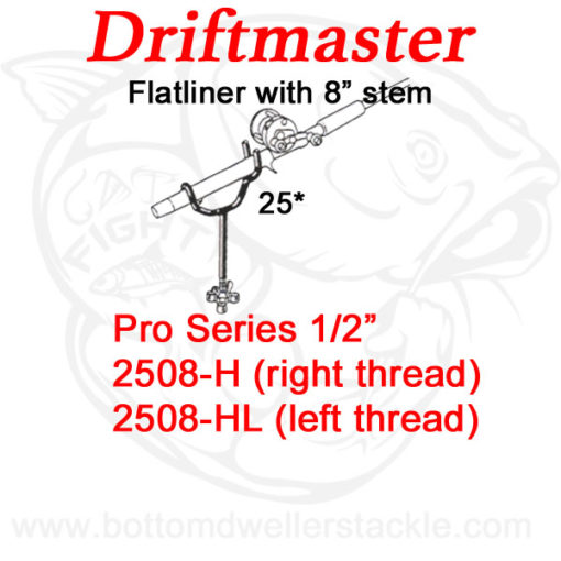 Driftmaster Pro Series Flatliner Rod Holders 2508-H and 2508-HL with Extended Shaft