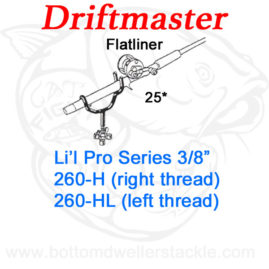 Driftmaster Li'l Pro Series Flatliner Rod Holders 260-H and 260-HL