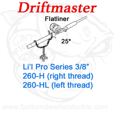 Driftmaster Li'l Pro Series Flatliner Rod Holders 260-H and 260-HL