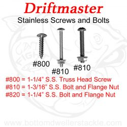 Driftmaster #800, #810, #820 Mounting Hardware Stainless Steel
