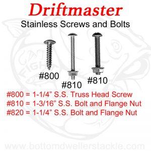 Driftmaster #800, #810, #820 Mounting Hardware Stainless Steel