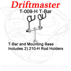 Driftmaster T-Bar T-009-H with rod holders and bases
