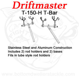 Driftmaster-T-Bar-T-150-H-with-rod-holders-and-bases