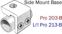 Driftmaster Li'l Pro 213-B or 213-BL Side Mount Base