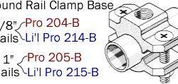 Driftmaster Li'l Pro 214-B, 214-BL, 215-B, or 215-BL Round Rail Base