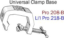 Driftmaster Li'l Pro 218-B or 218-BL Universal Clamp Base