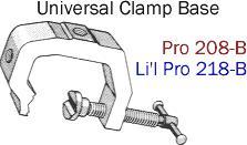 Driftmaster Li'l Pro 218-B or 218-BL Universal Clamp Base