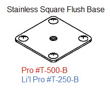 Driftmaster Li'l Pro 250-B or 250-BL S.S. Square Flush Base