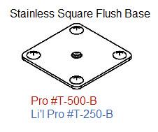 Driftmaster Li'l Pro 250-B S.S. Square Flush Base