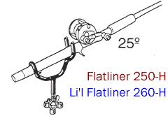 Driftmaster Li'l Pro 260-H and 260-HL Flatliner Rod Holders