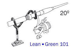 Driftmaster Lean-Green 101 Rod Holder w/ flat rail base