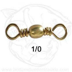 Do-It Brass Barrel Swivels, Size 1/0