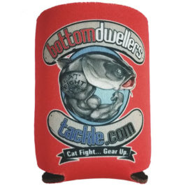 bottom dwellers tackle can koozie coolie