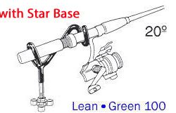Driftmaster Lean-Green 100 Rod Holder w/ star base