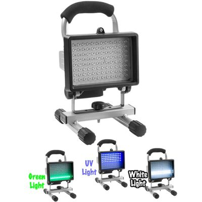 Quarrow Rechargeable 96 LED Fishing Light, Green, White, UV
