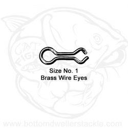 Do-It Brass Wire Eyes, Size - 1