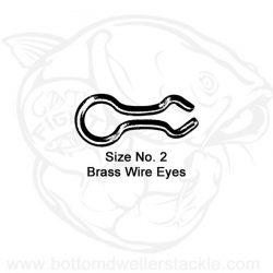 Do-It Brass Wire Eyes, Size - 2