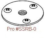 Driftmaster Pro SSRB-0 and SSRB-0L S.S. Round Flush Base
